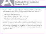 final grade 7 prose constructed response item 2