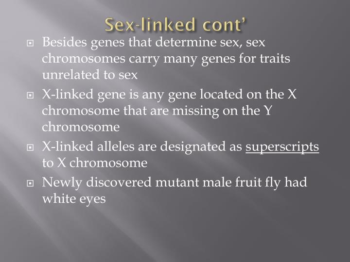 Sex-linked cont'