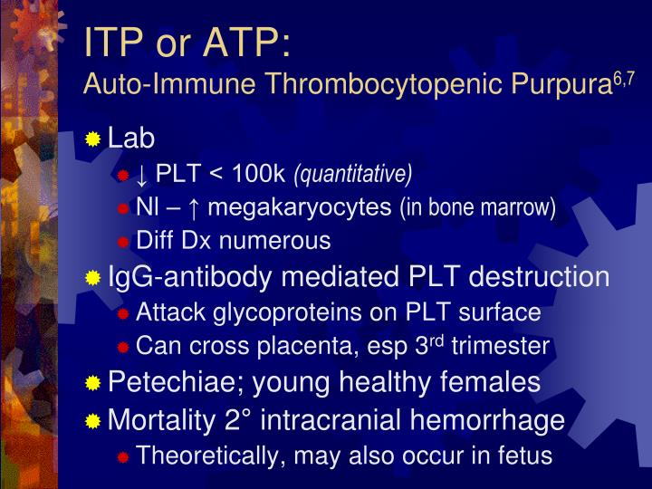 ITP or ATP: