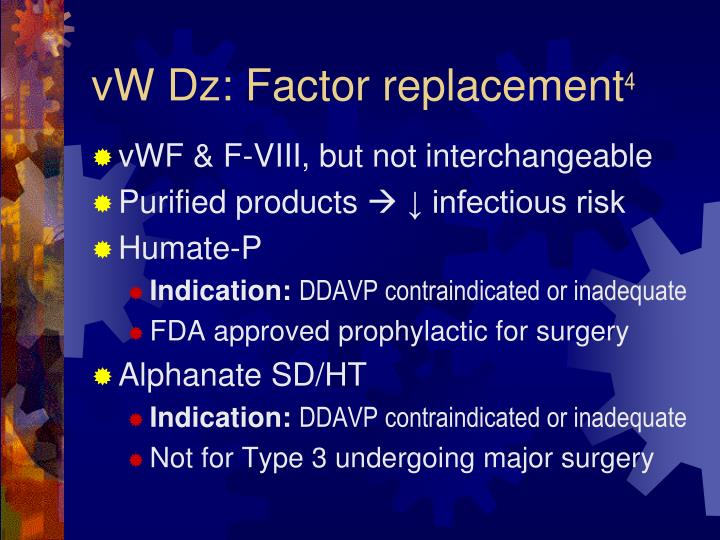 vW Dz: Factor replacement