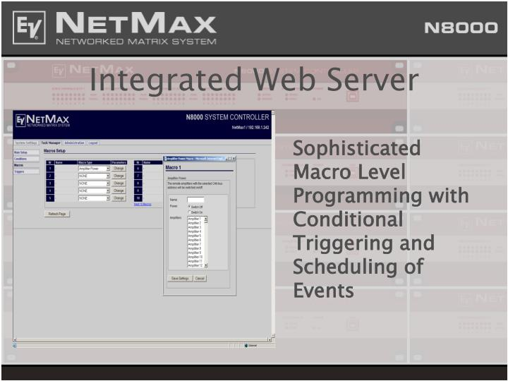 Integrated Web Server