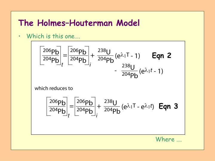 The Holmes–Houterman Model