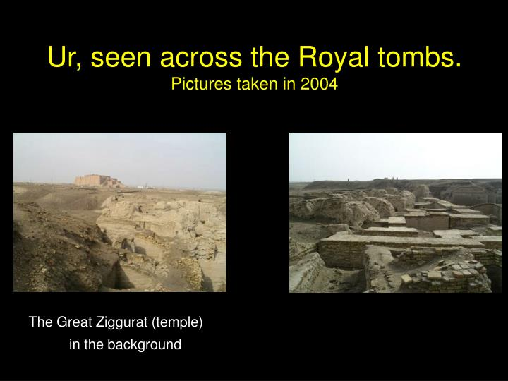 Ur, seen across the Royal tombs.