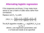 alternating logistic regression