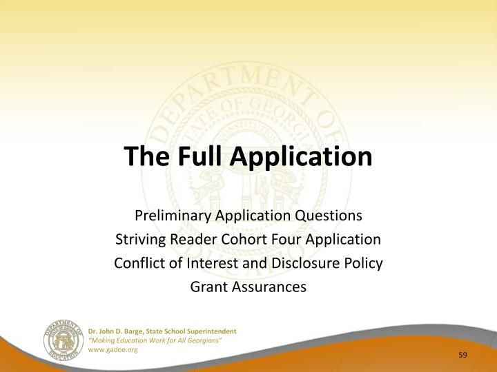 The Full Application