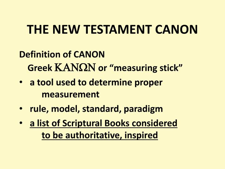 the new testament canon n.