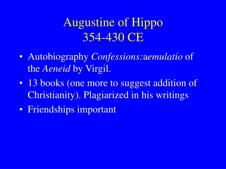 augustine of hippo 354 430 ce n.