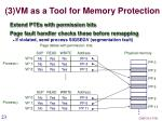 3 vm as a tool for memory protection
