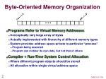 byte oriented memory organization