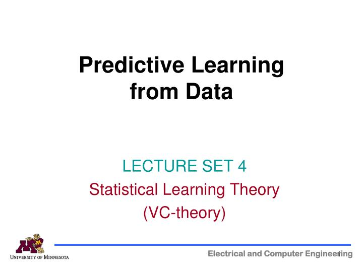 predictive learning from data n.