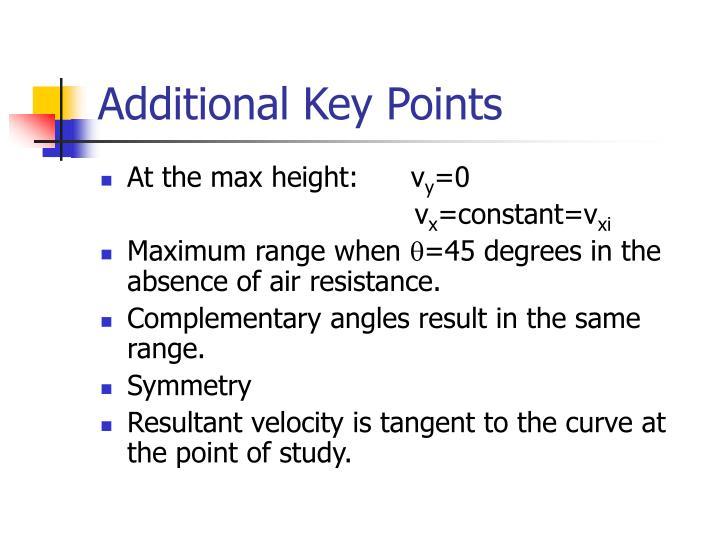 Additional Key Points