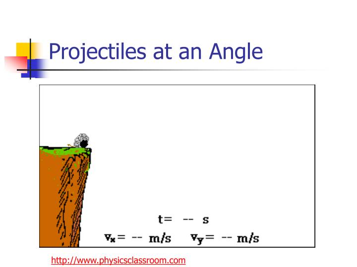 Projectiles at an angle2