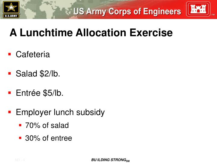 A Lunchtime Allocation Exercise