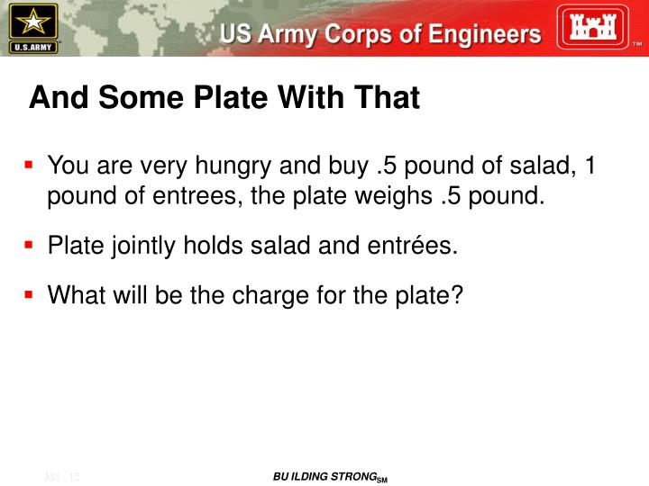 And Some Plate With That