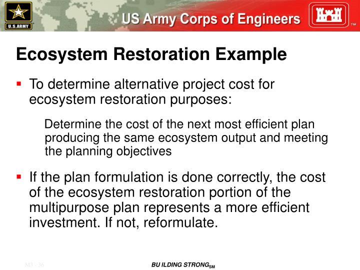 Ecosystem Restoration Example