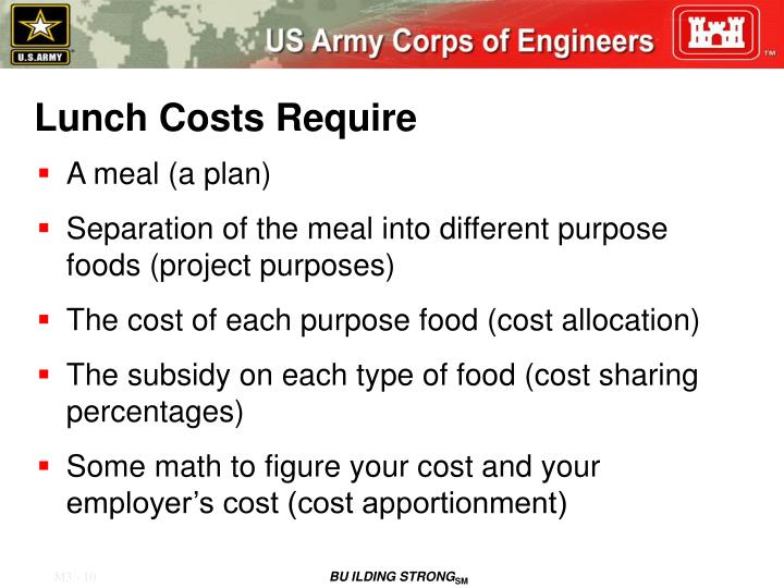 Lunch Costs Require