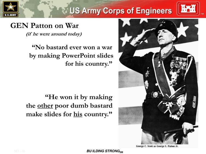 GEN Patton on War