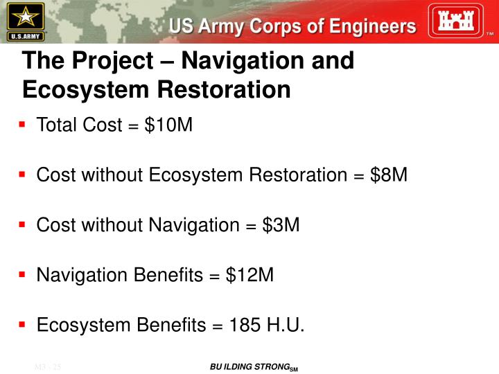 The Project – Navigation and Ecosystem Restoration