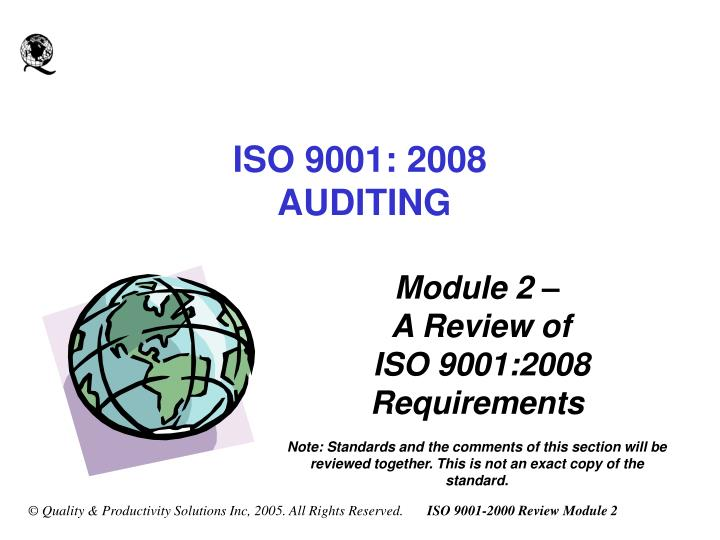 PPT - ISO 9001: 2008 AUDITING PowerPoint Presentation - ID:6593921