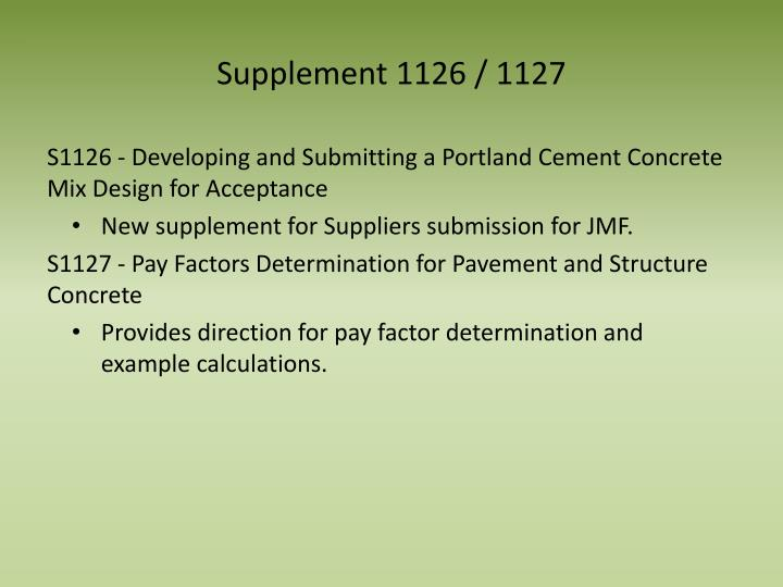Supplement 1126 / 1127