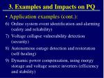 3 examples and impacts on pq1