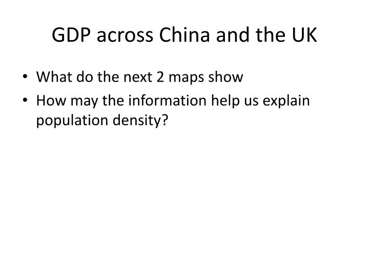 GDP across China and the UK