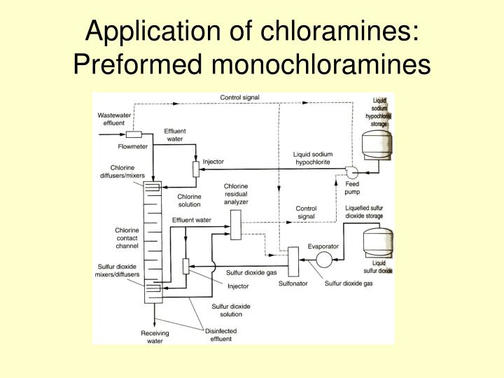 Application of chloramines: