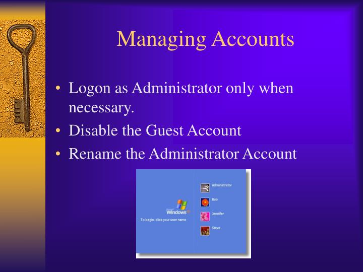 Managing Accounts