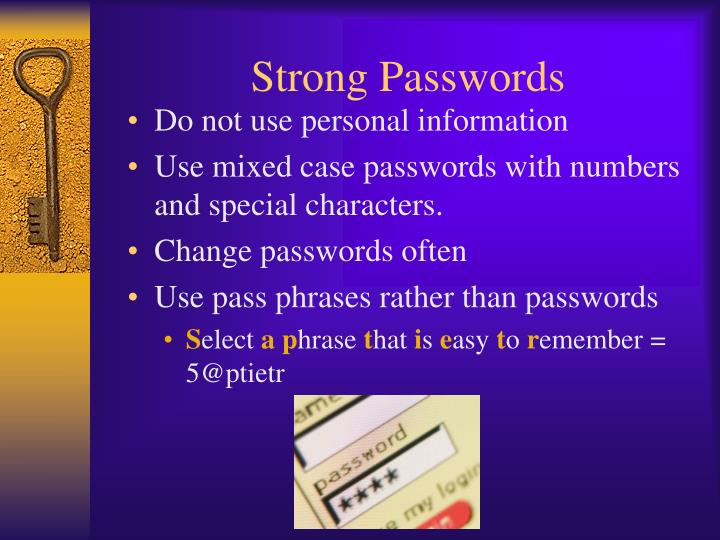 Strong Passwords