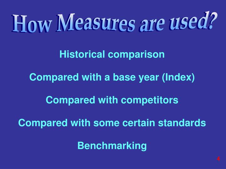 How Measures are used?
