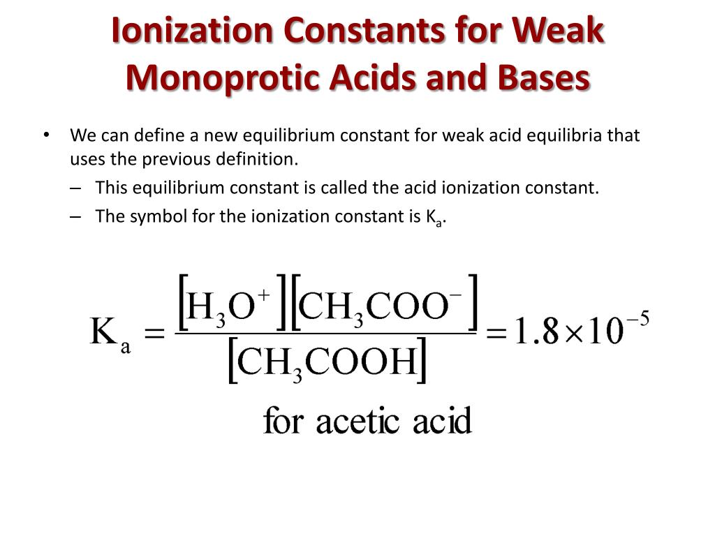 Equation For The Ionization Of Ethanoic Acid In Water ...
