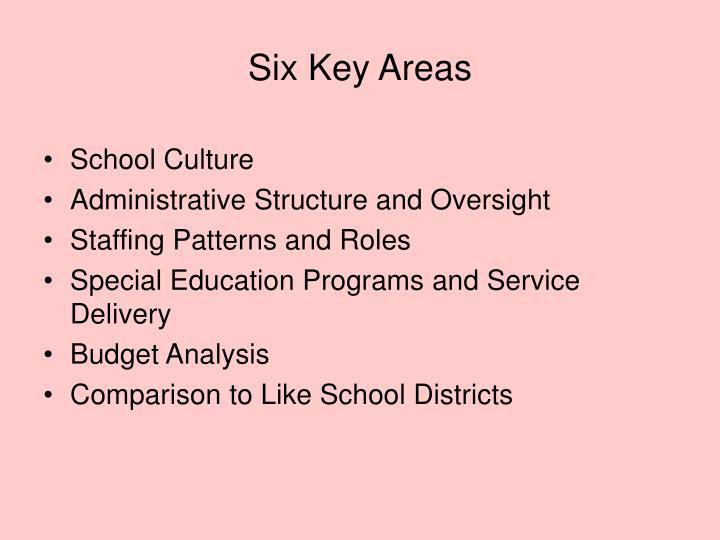 Six Key Areas