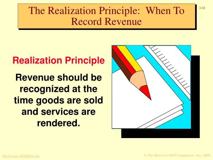 The Realization Principle:  When To Record Revenue