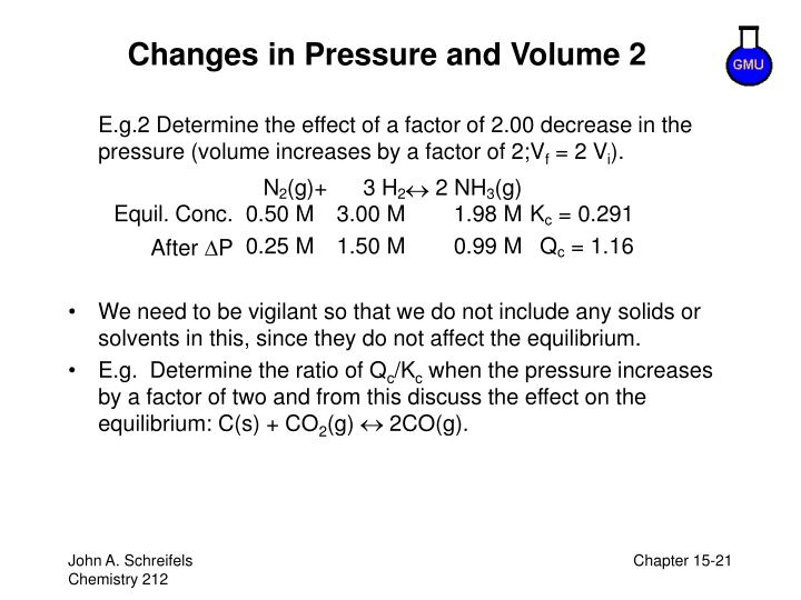 Changes in Pressure and Volume 2