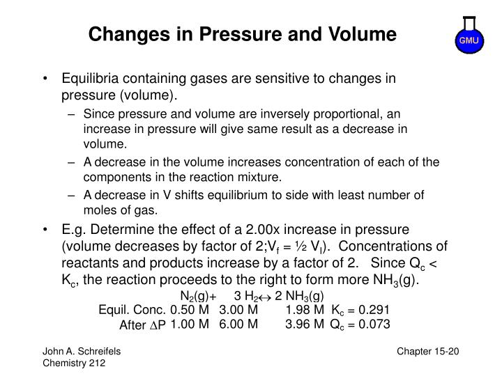 Changes in Pressure and Volume