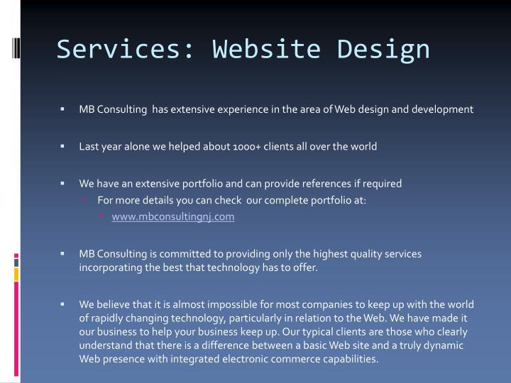 Services: Website Design