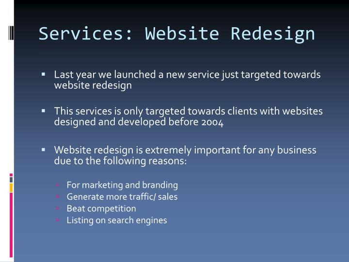Services: Website Redesign