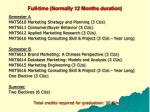 full time normally 12 months duration