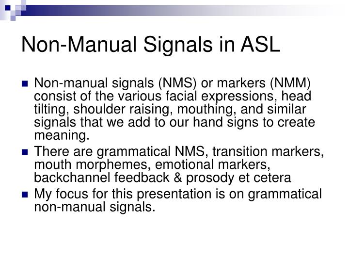 grammatical signals or expressions