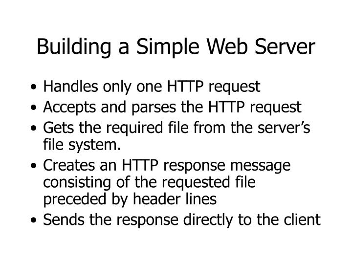 Building a Simple Web Server