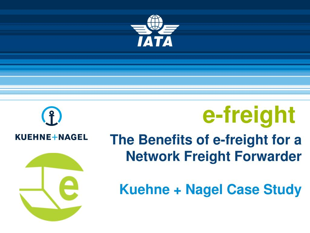 PPT - The Benefits of e-freight for a Network Freight