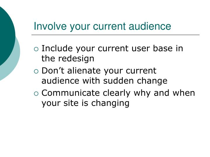 Involve your current audience