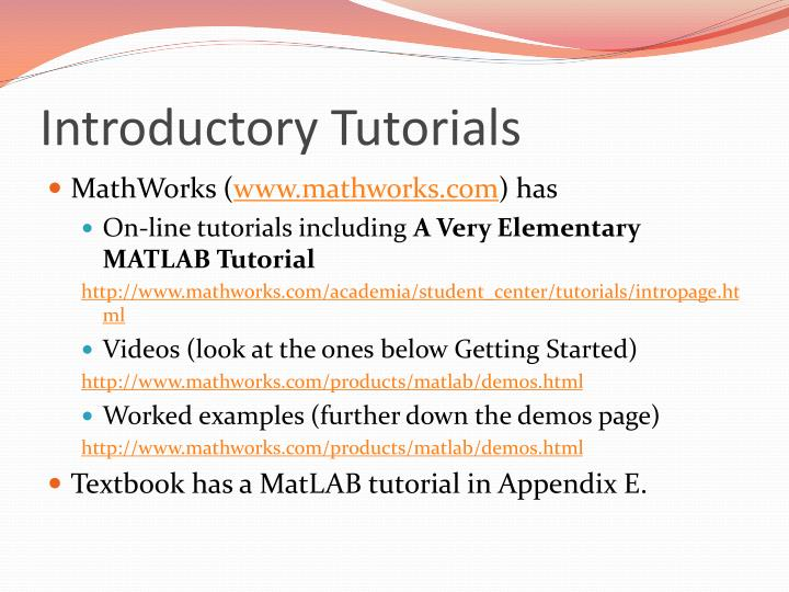 Introductory Tutorials