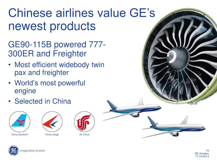 Ppt ge aviation powerpoint presentation id6594719 chinese airlines value ges newest products toneelgroepblik Gallery