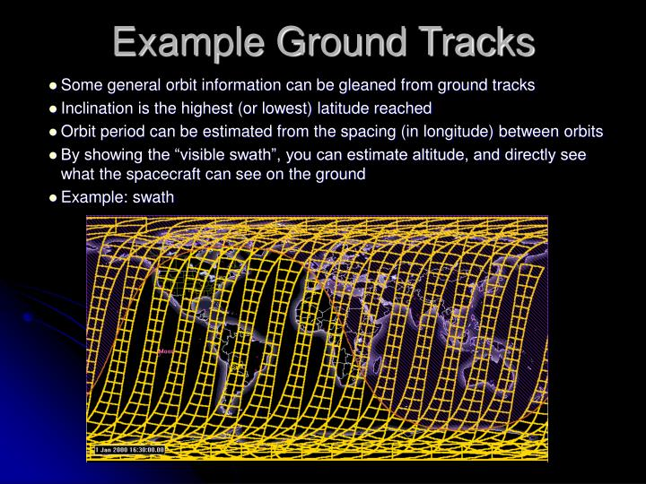 Example Ground Tracks