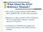 what about the aiag reference manuals