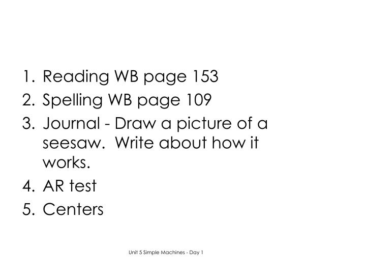 Reading WB page 153