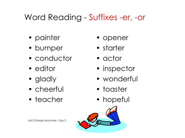Word Reading -
