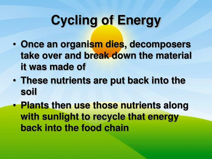 Cycling of Energy