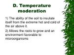 d temperature moderation